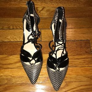 Black and grey 2 inch Zara heels